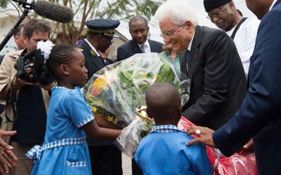 Il Presidente Mattarella visita il COE in Camerun
